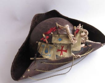Steampunk hat tricorn octopus 60 cm