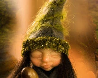 Green Baby elf Little Willow forest woodland guy