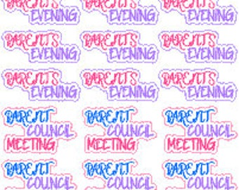 Parents Evening / Parent Council Meeting // Diary // Planner // Stickers