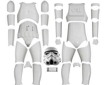 Star Wars Stormtrooper Costume Armor - Original Replica - A New Hope - Kit Version 2 WITH REPLICA HELMET