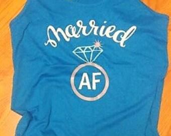 Married AF... racerback tank