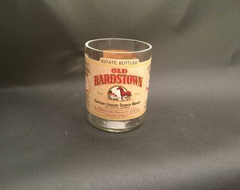 HANDCRAFTED Candle UP-CYCLED  750ML Old Bardstown Horse Bourbon Whiskey Bottle Soy Candle . Made To Order !!!!!!!