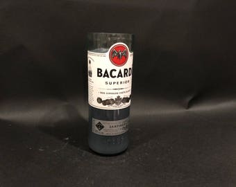 1 Liter vs 750ML Bacardi Candle Rum Silver Superior Rum  Bottle Soy Candle. Made To Order !!!!