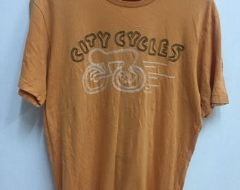 Vintage 80s Keith Haring City Cycles Design Andy Warhol HipHop Graffiti Streetwear