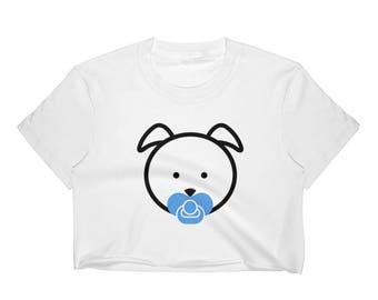 Puppy Pup Pacifier Binkie Princess Daddy Dom DDLG ABDL Little Cum Slut Baby BDSM Choker Day Collar Adult Onesie Pastel Goth Top