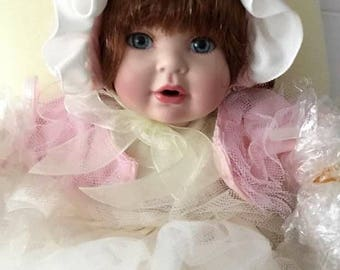 Marie Osmond Nettie Tiny Tot Gorgeous in Pink and Cream Ruffles!