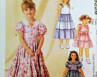 Girls Party Dress Pattern McCall's 9228 size 6-8