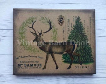 Woodland Deer 8x10 Canvas Art