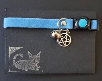 BLUE PENTAGRAM Cat Collar
