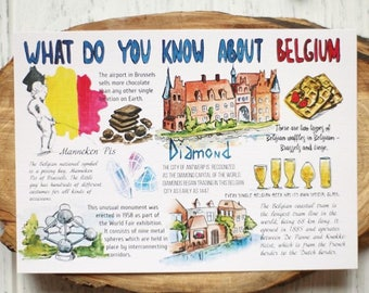 "Postcard ""What do you know about Belgium"""