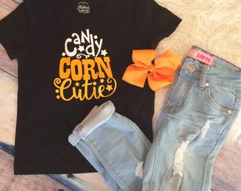 Candy Corn shirt/ halloween shirt/ girls halloween shurt/ candy corn/ girls bouyiqye shirt/ girls boutique clothes/ boutique shirts/ girls