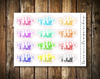Netflix & Chill - Script Words - Fits Any Planner