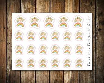 Rainbow - Cute Blonde Girl - Functional Character Stickers