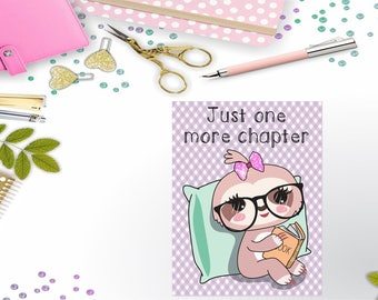 One More Chapter Sloth Traveler's Notebook/Planner Printable Dashboard/Cover Instant Digital Download