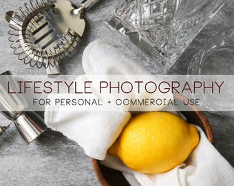 DIGITAL lifestyle photography bar lemon food styling commercial use for F&B and more