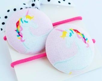 rainbow unicorn hair elastics hair ties for little girls hair accessories