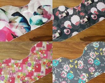 Single Floral Baby Burp Cloth / Baby Cloth / Burping Cloth / Floral Print