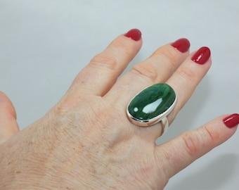Natural Jade 925 Sterling Silver Ring