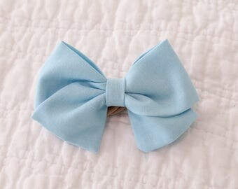 Sky Blue Solid Bow