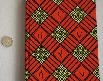African print fabric 2018 A5 daily Diary Planner Calendar Agenda day a page Vibrant Unique Original Hardback Ankara Dovetailed London