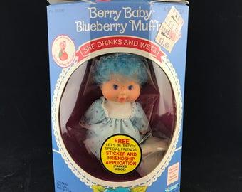 1984 Kenner Toys; Strawberry Shortcake. Berry Baby Blueberry Muffin. NIB