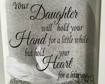 Daughter gift, gift for mum, birthday gift, quote frame