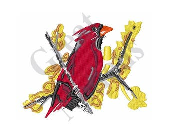 Cardinal Bird - Machine Embroidery Design