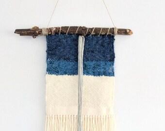 Lake: handwoven wall hanging