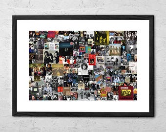The Doors Collage - The Doors Poster - The Doors Art Print - Rock Poster - Rock and Roll - Classic Rock - Man Cave Wall Art - Music Poster