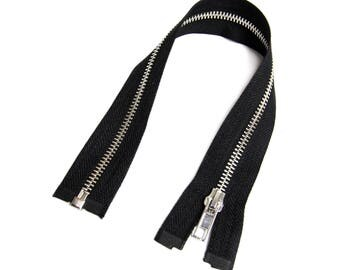 Zipper open end for Biker jackets black