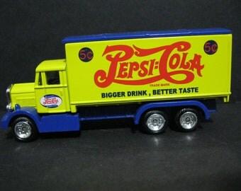 Vintage Diecast Pepsi Cola Delivery Truck, Golden Wheels Diecast Truck