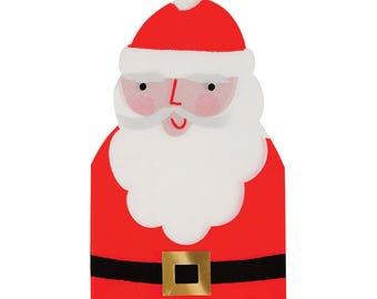 Fancy Foil Santa Claus Christmas Napkins/ Trendy Christmas Paper Napkins/ Christmas Party Napkins/ Meri Meri Christmas