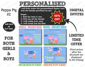 Peppa Pig Invitation, Peppa Pig Birthday Invite, Peppa Pig Birthday Invitation, Peppa Pig Birthday Party Invite, Peppa Pig Party Printable