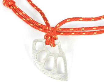Friend Camalot pendant. Climbing jewelry. Silver friend climbing necklace.
