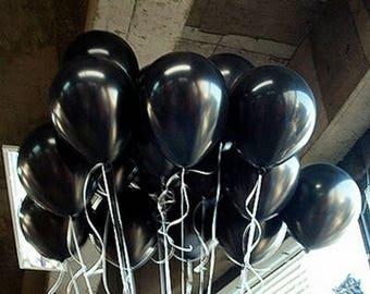 Black Balloons, Metallic Black Balloons, Birthday Balloons, Balloons 30cm, Pkt 12