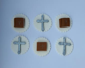 Holy communion cupcake toppers