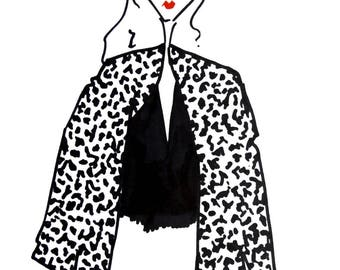 Illustration: Leopard jacket