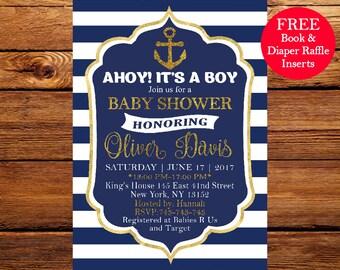 Ahoy its a boy Etsy