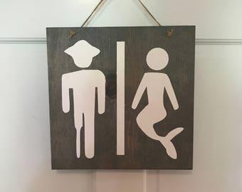Unique bathroom sign