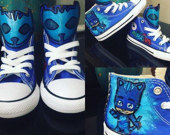 Custom Hand Painted PJ Mask Bling Converse All Stars