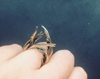 Wild Branches Silver Ring