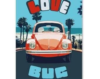 Love Bug  Valentine card Cute Card, Fun Card for Boyfriend/Girlfriend/Husband/Wife