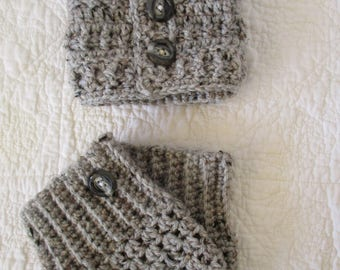 Boot cuffs and ear warmer headband set