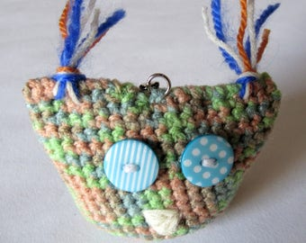 OWL Keychain with crochet cotton