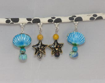 "Two pairs of earrings, reality, shell and star® MoovClipEar ""DeuxPareillées"" Collection"