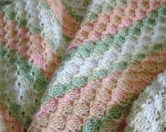 Knitted blanket Kid blanket Double-side knitted blanket Warm blanket for kids Gift for children Gift for mom Birthday gift Gift for newborn