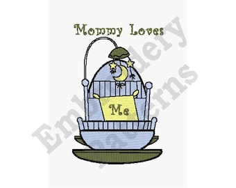 Mommy Loves Me - Machine Embroidery Design