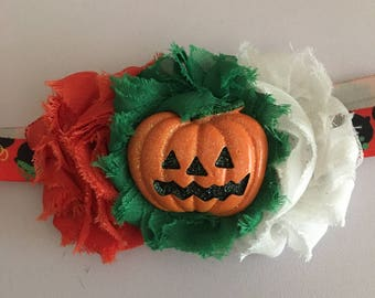 Pumpkin patch halloween headband