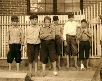 "1913 Mill Workers, Columbus, Georgia Vintage Photograph 8.5"" x 11"" Reprint"