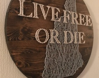 Live free or die New Hampshire String Art